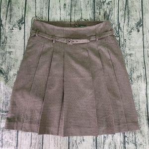 Mexx Houndstooth Pleated High-Waisted Retro Skirt